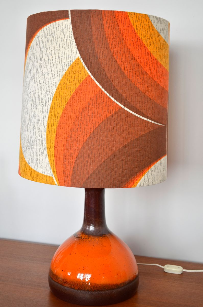 Flower Power Style Table Lamp, 1970s for sale at Pamono