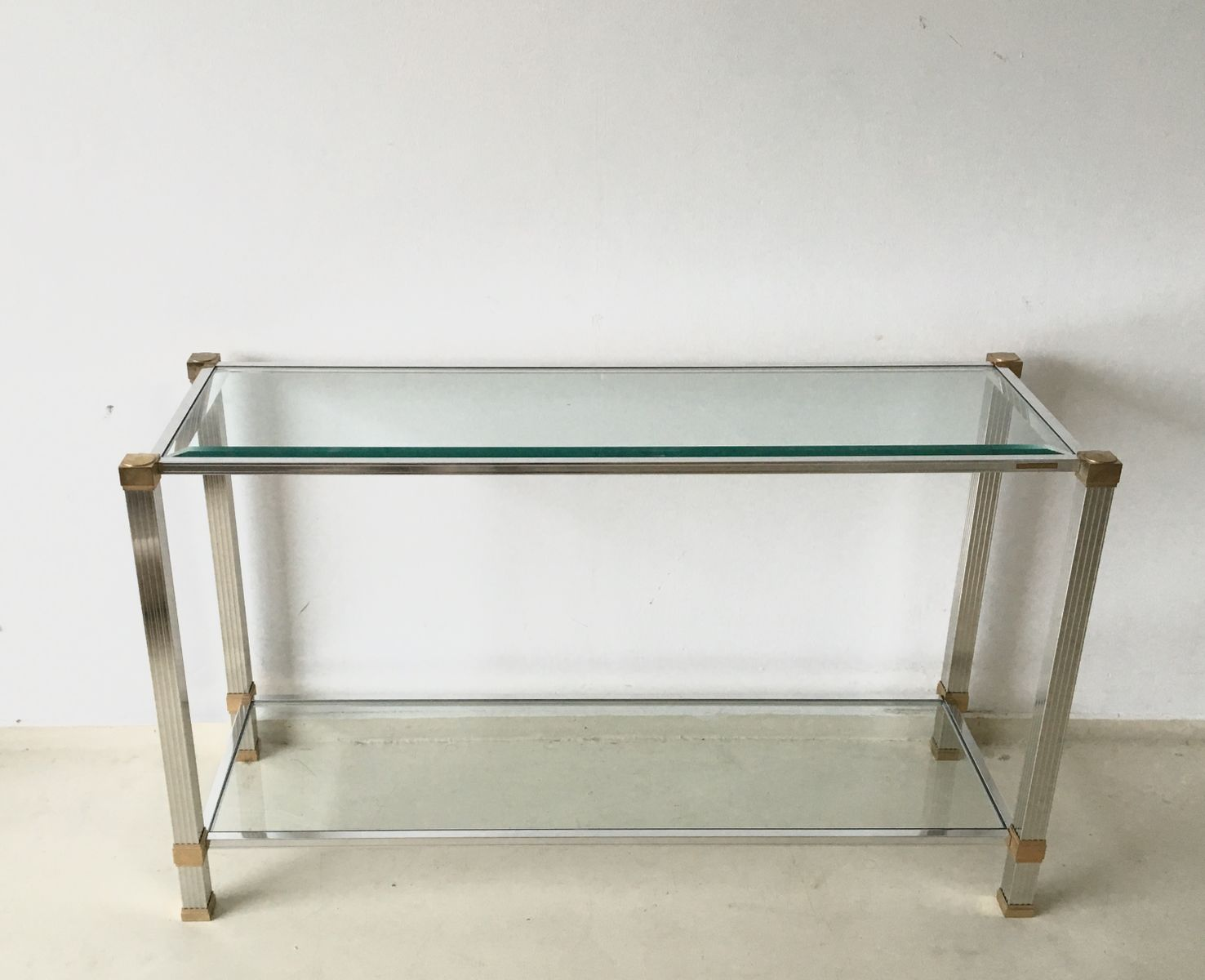 vintage french console table by pierre vandel for sale at pamono