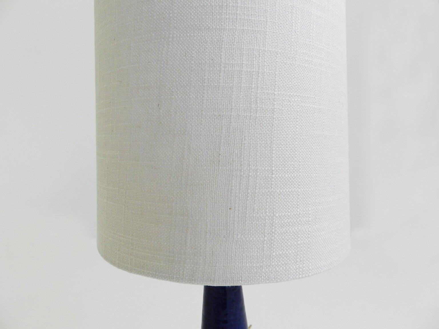 Blue ceramic table lamp - Danish Blue Ceramic Table Lamp By Per Linnemann Schmidt For Palshus