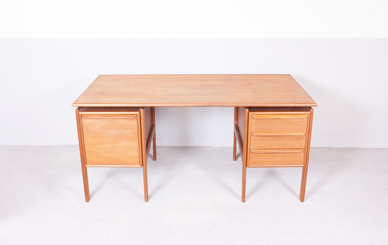 Mid century teak office desk for sale at pamono - Teak office desk ...