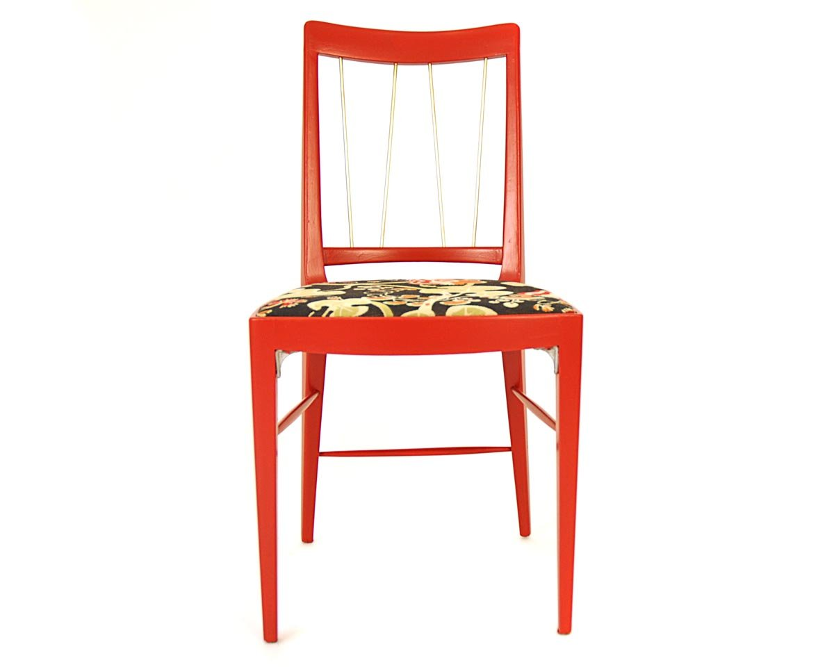 red dining chair by oswald haerdtl for thonet  for sale at pamono - price per piece