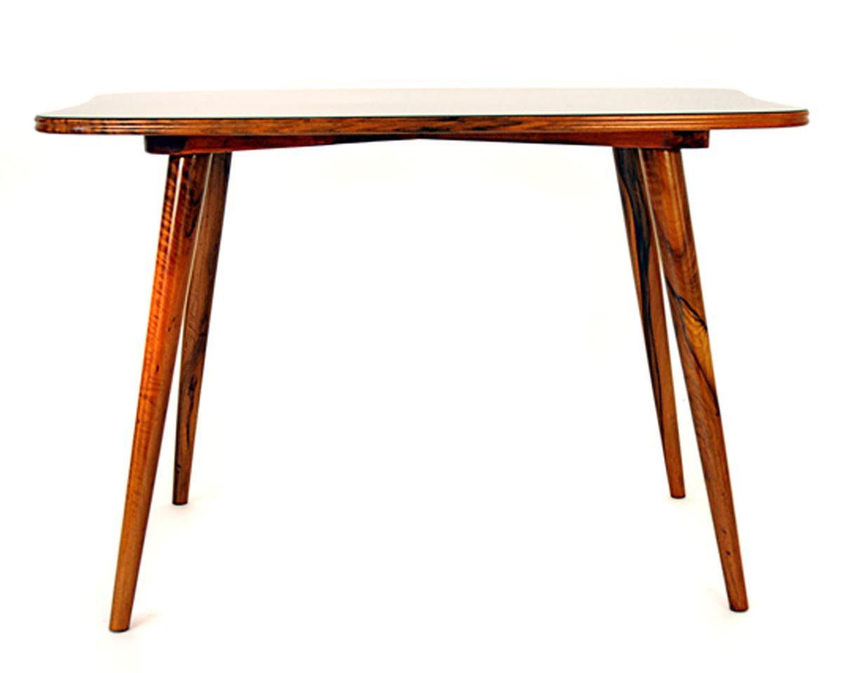 Austrian walnut formica side table 1950s for sale at pamono for Formica table