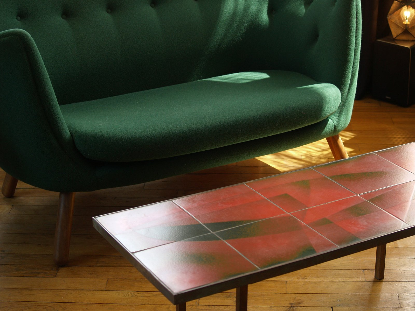 Abstract Ceramics Coffee Table by Jacques Lignier 1950s for sale