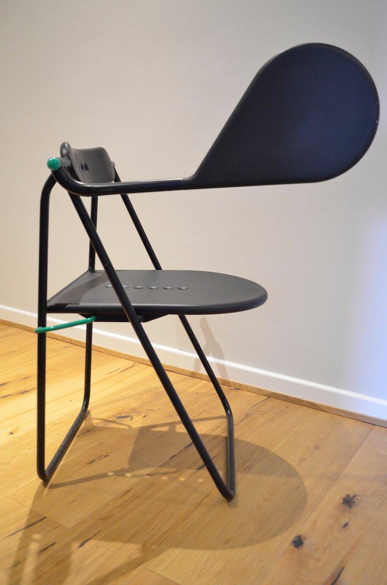 Design Flap Folding Chair By Paolo Parigi 1987 For Sale