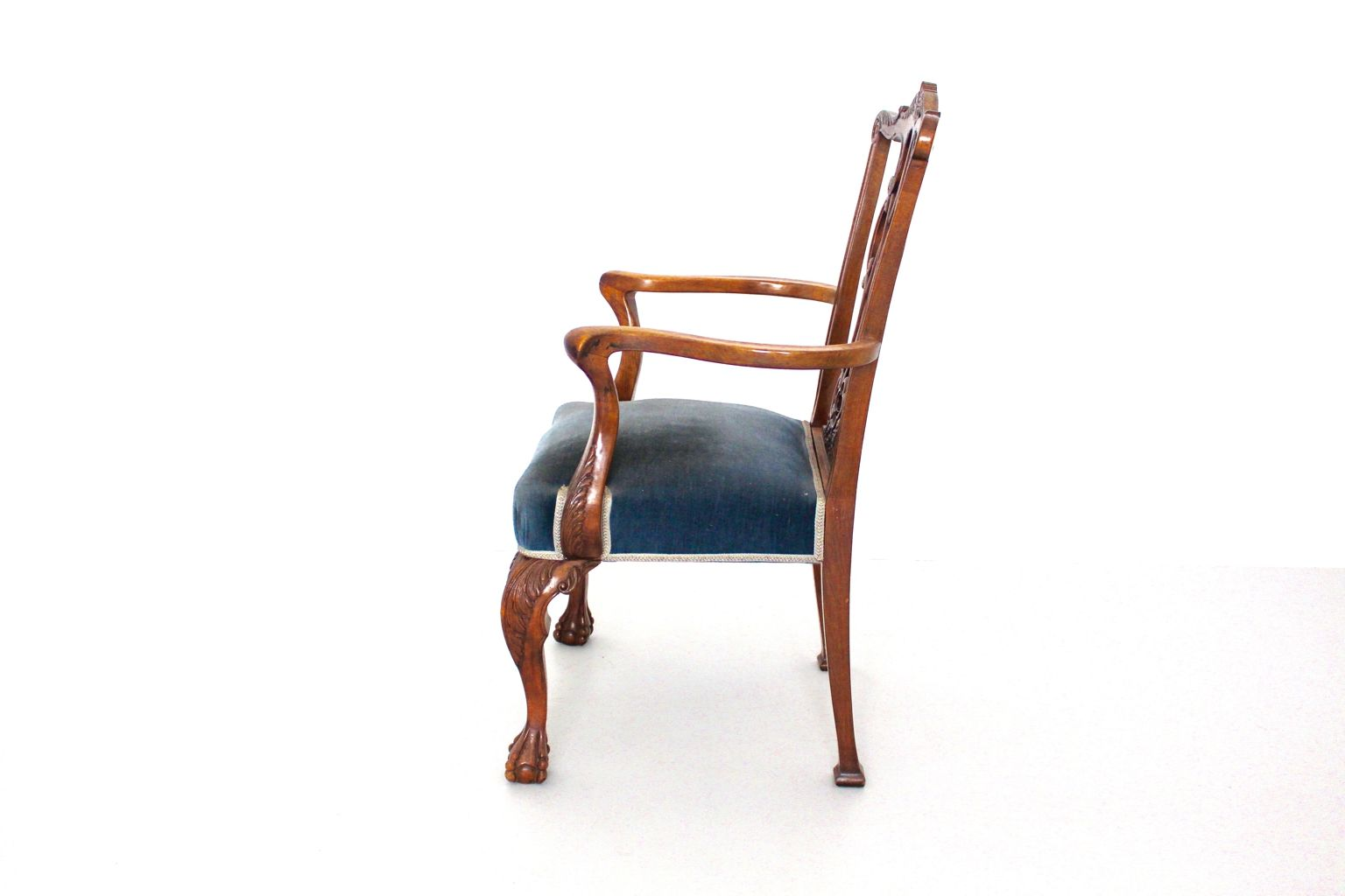 armlehnstuhl im chippendale stil 1920er bei pamono kaufen. Black Bedroom Furniture Sets. Home Design Ideas