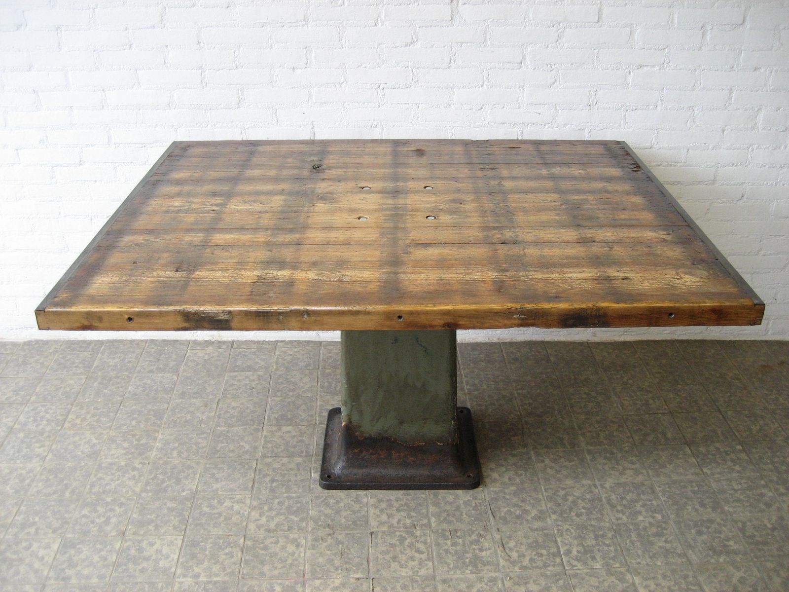 Vintage Industrial Cast Iron Dining Table for sale at Pamono : vintage industrial cast iron dining table 1 from www.pamono.com size 1600 x 1200 jpeg 206kB