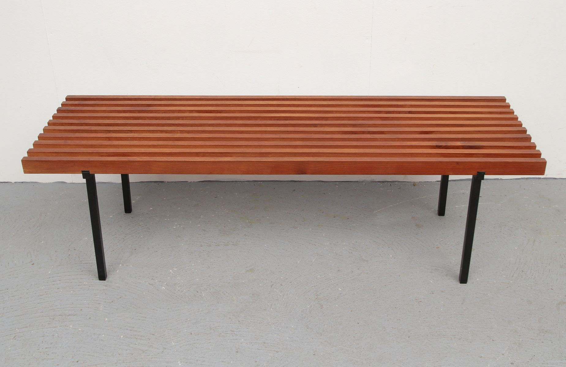 Long Slatted Garden Bench 1960s For Sale At Pamono