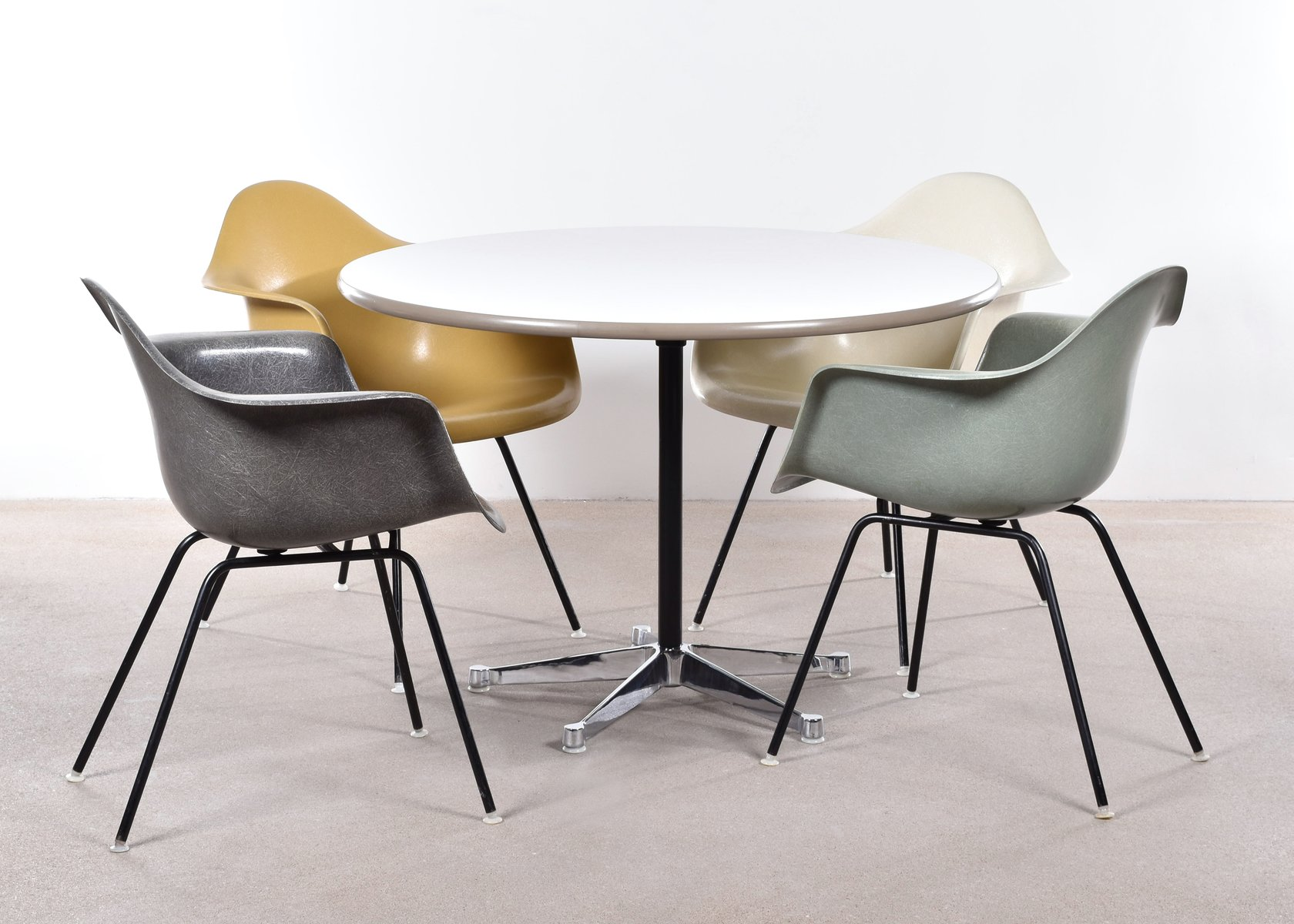 DAX Dining Chairs by Charles and Ray Eames for Herman  : dax dining chairs by charles and ray eames for herman miller set of 4 7 from www.pamono.com.au size 1680 x 1200 jpeg 157kB
