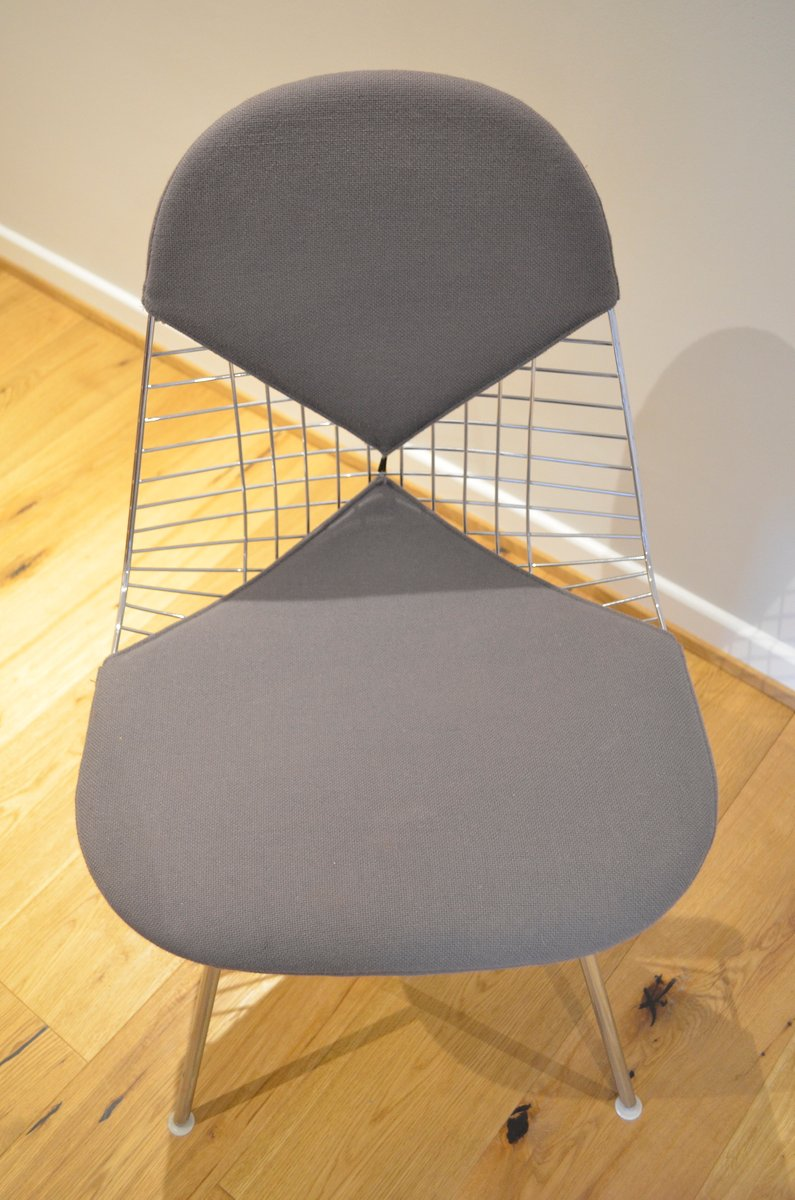 Chair wire chairs missing cover - Wire Bikini Chair By Charles Ray Eames For Vitra