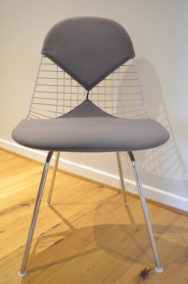 Wire bikini chair by charles ray eames for vitra for for Eames chair nachbau deutschland