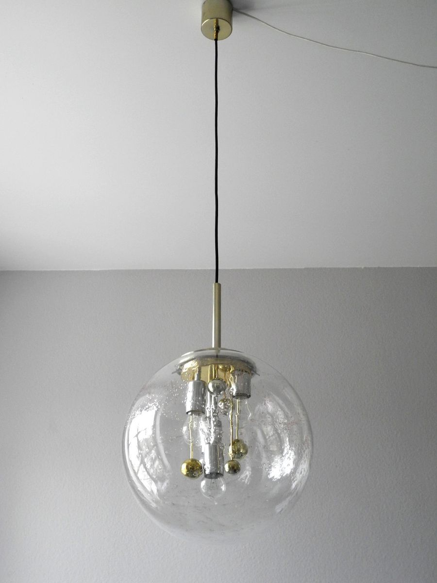 Doria Glass Ball Pendant Lamp For Sale At Pamono