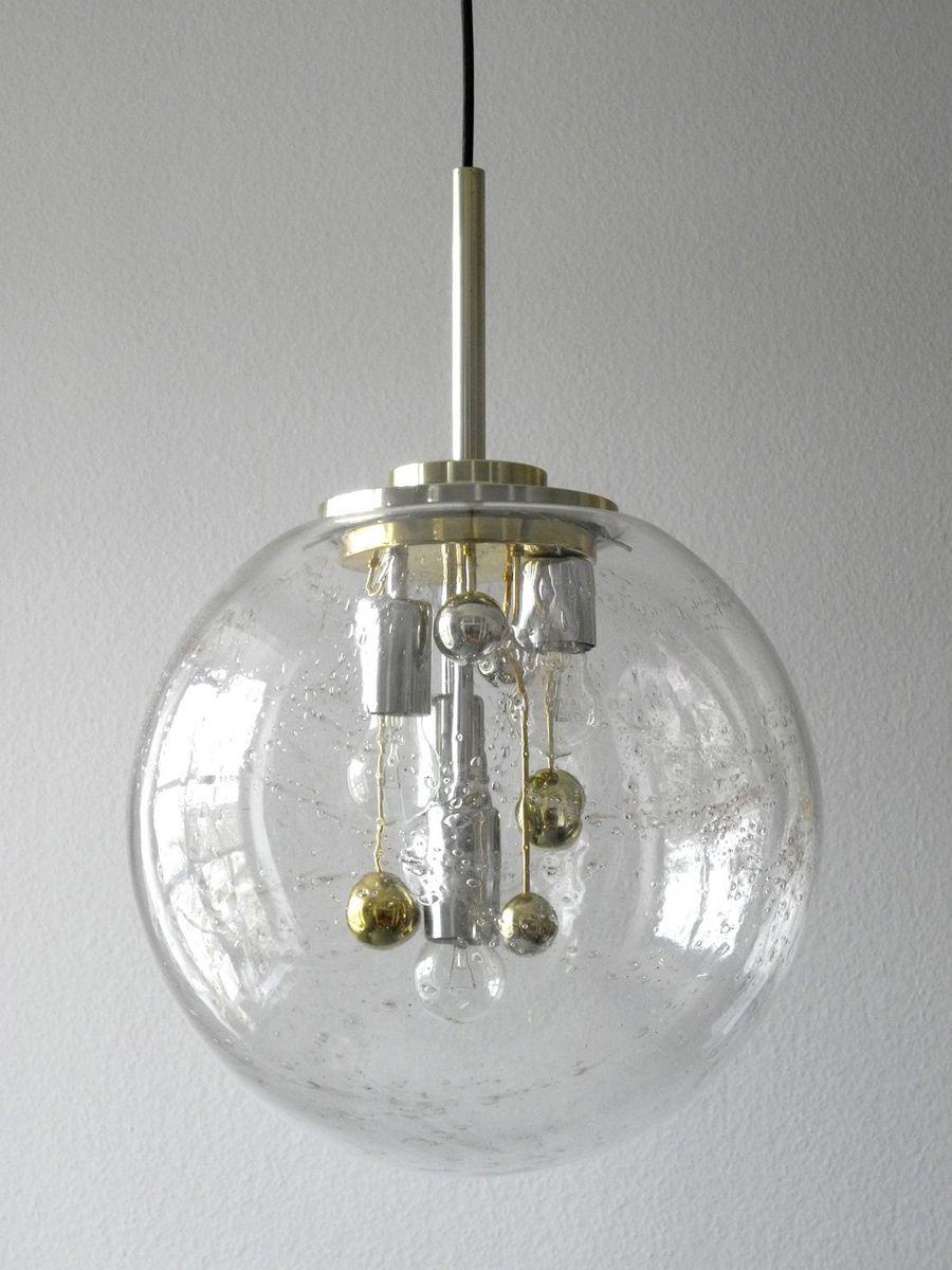 lampe suspension doria avec boule en verre en vente sur pamono. Black Bedroom Furniture Sets. Home Design Ideas