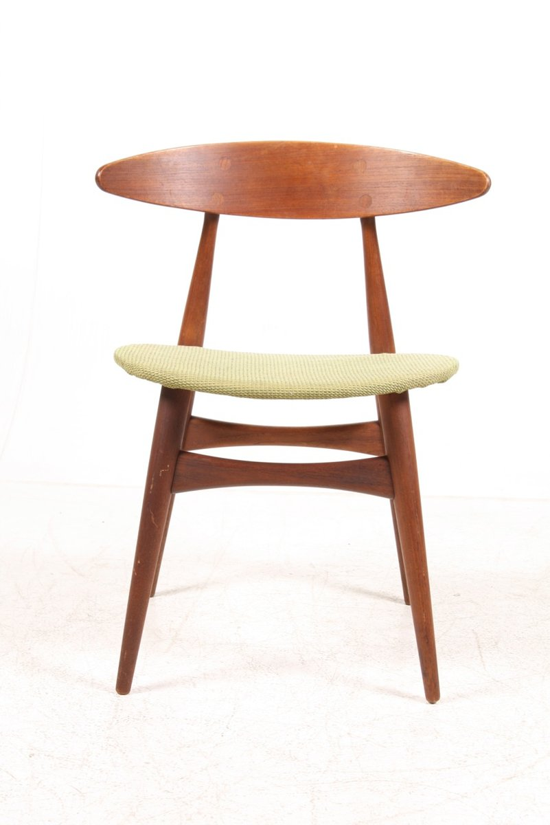 ch 33 teak side chair by hans j wegner for carl hansen s n for sale at pamono. Black Bedroom Furniture Sets. Home Design Ideas