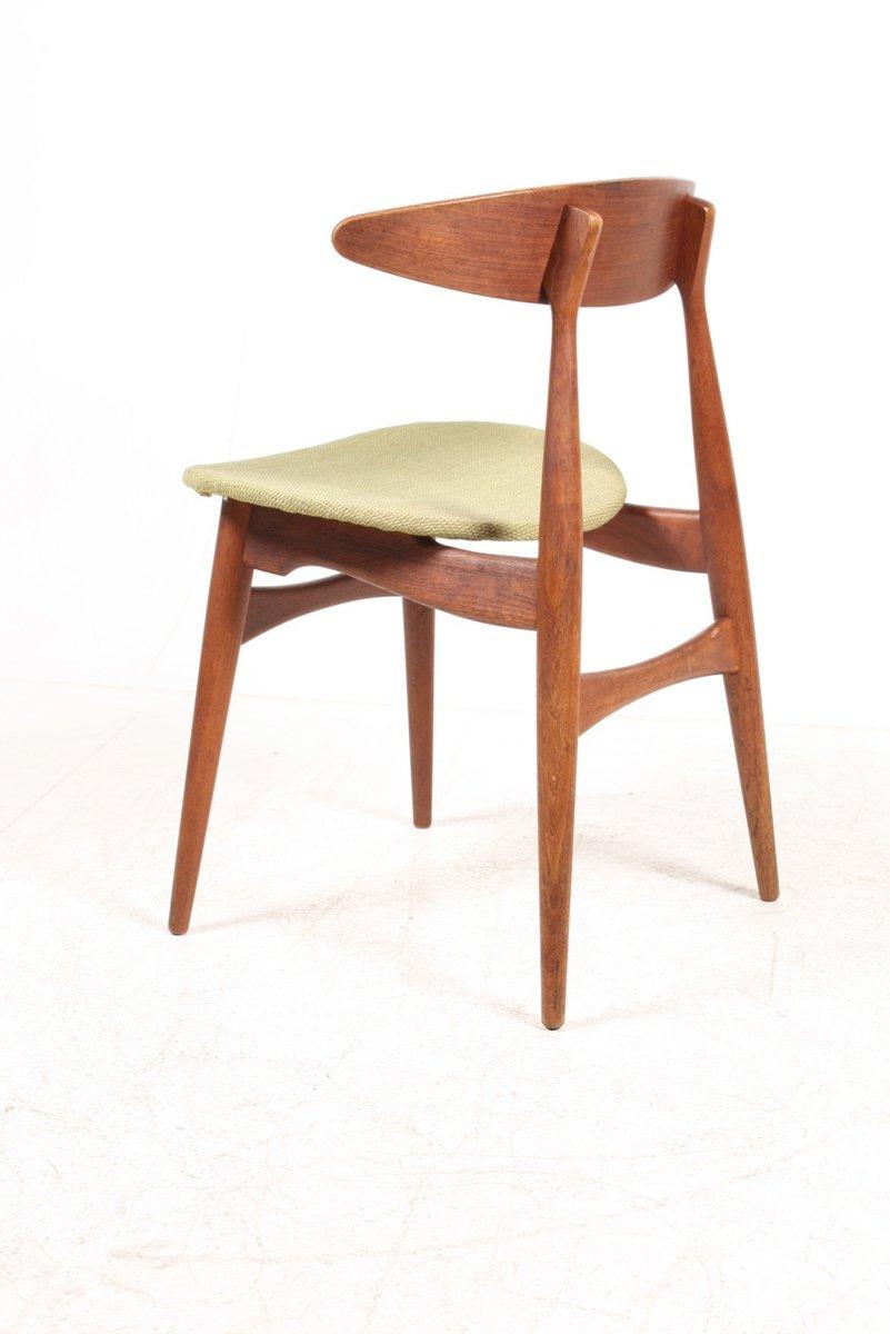 ch 33 teak side chair by hans j wegner for carl hansen s n for sale at pamono. Black Bedroom Furniture Sets. Home Design Ideas