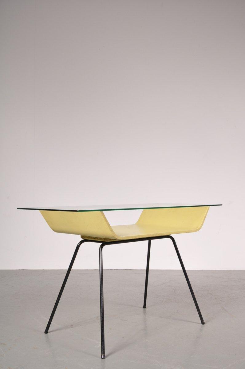 couchtisch mit ablage und glasplatte von gispen 1950er bei pamono kaufen. Black Bedroom Furniture Sets. Home Design Ideas