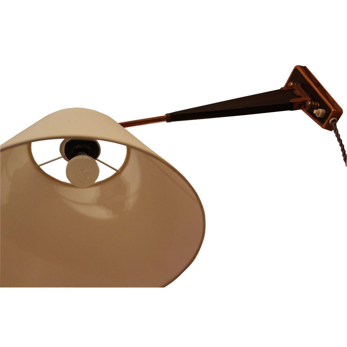 schwedische wandlampe aus holz 1960er bei pamono kaufen. Black Bedroom Furniture Sets. Home Design Ideas