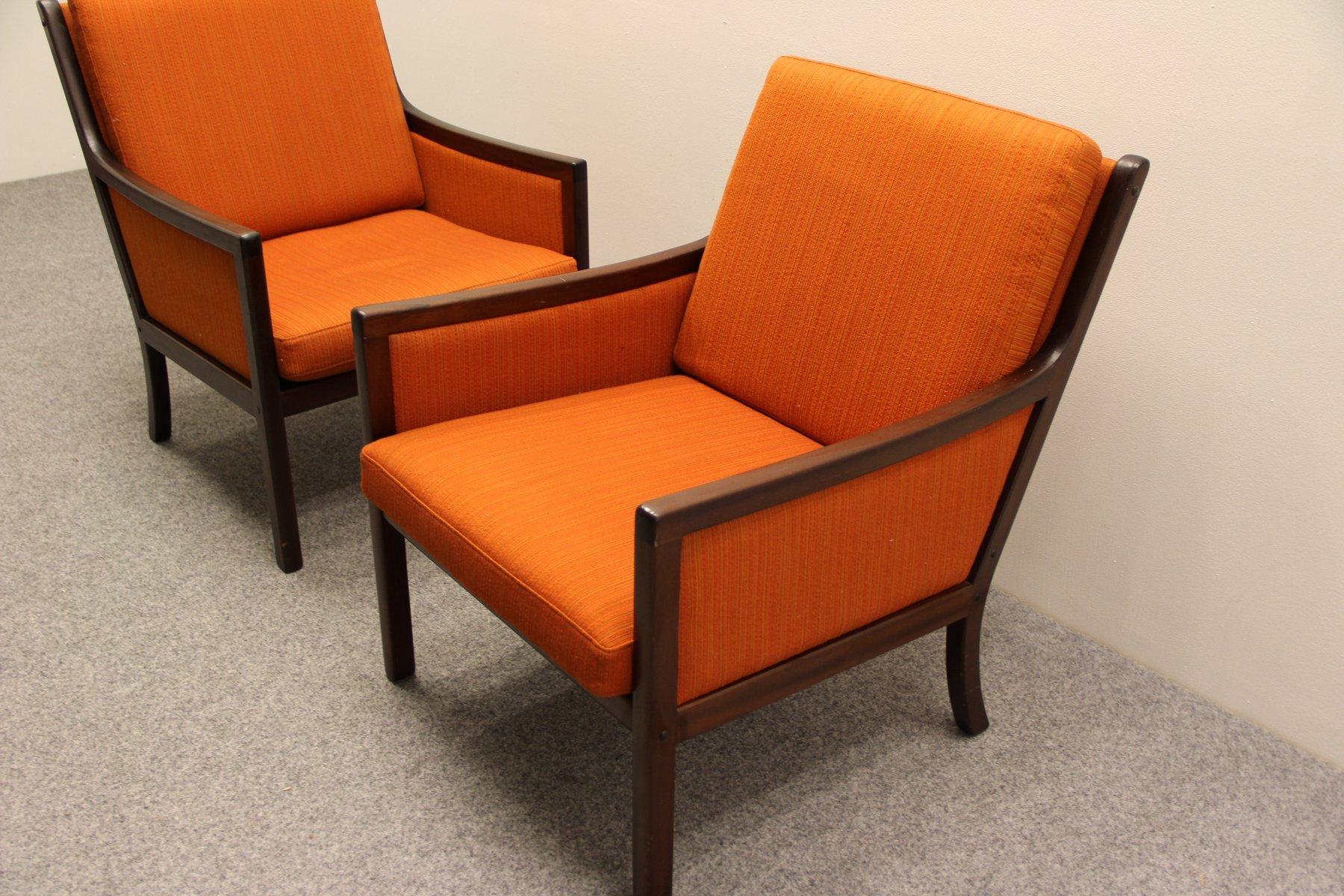 mahagoni lounge sessel von ole wanscher f r p jeppesen bei pamono kaufen. Black Bedroom Furniture Sets. Home Design Ideas