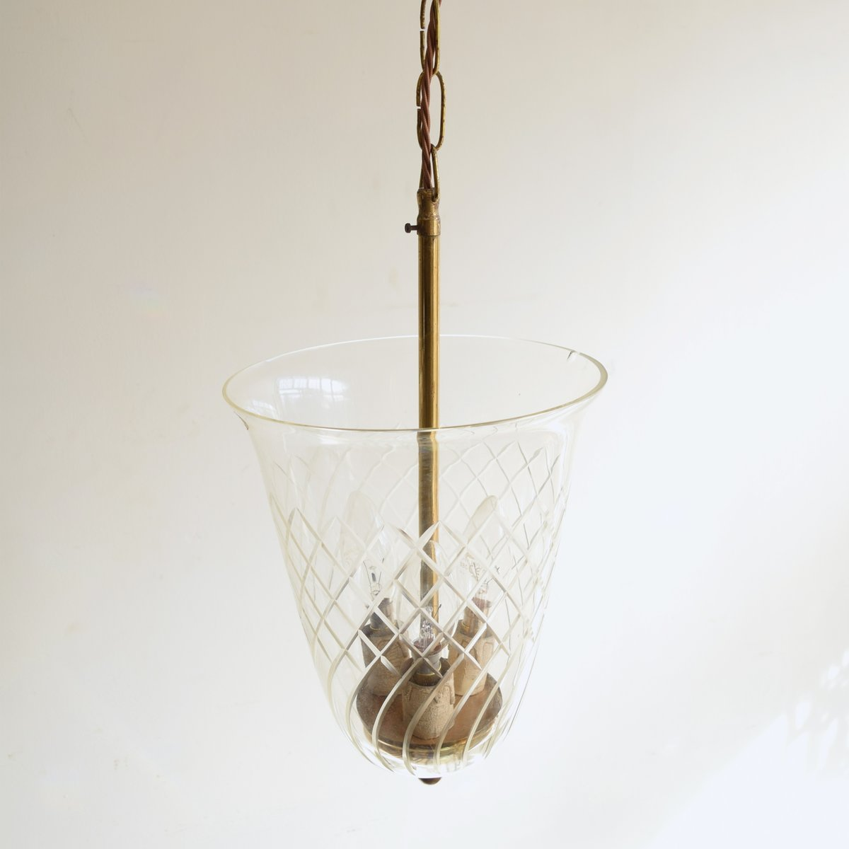 Vintage Cut Glass Pendant Lamp For Sale At Pamono