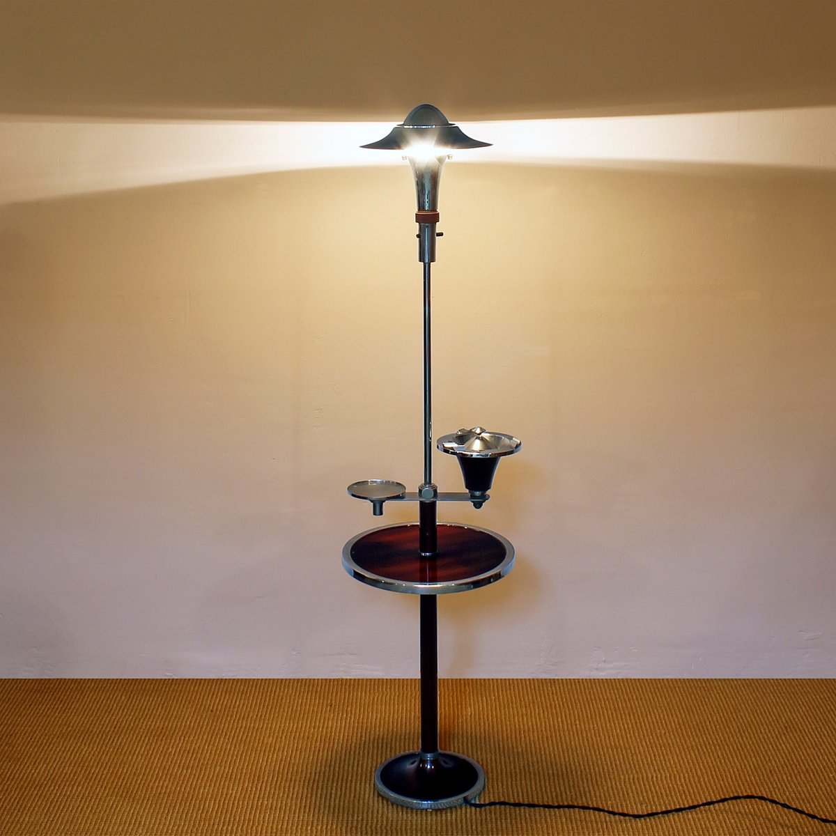 French art deco smoker39s floor lamp 1930s for sale at pamono for Floor standing art deco lamp