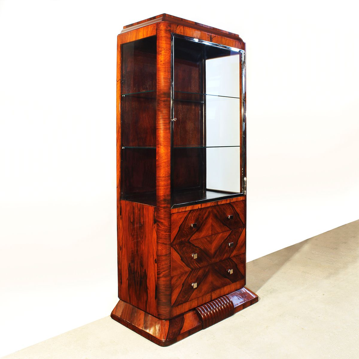 franz sische art deco vitrine 1930er bei pamono kaufen. Black Bedroom Furniture Sets. Home Design Ideas