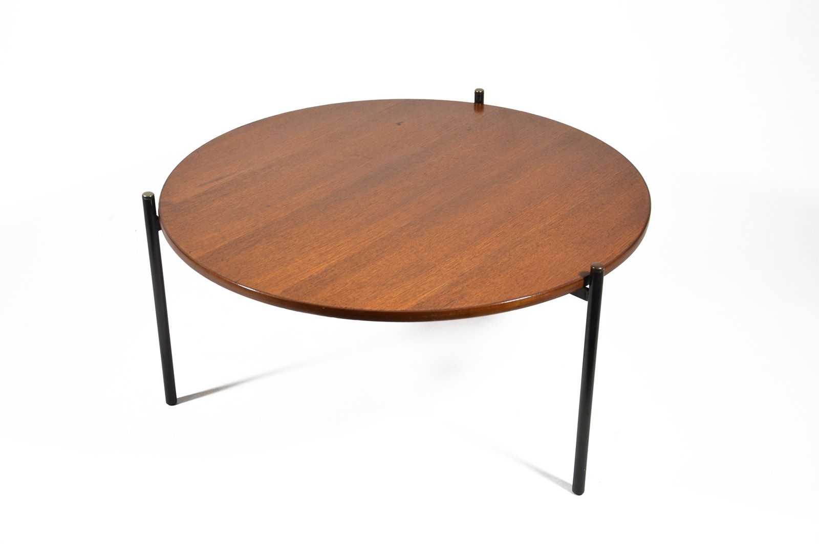 Round Teak Coffee Table 1950s For Sale At Pamono