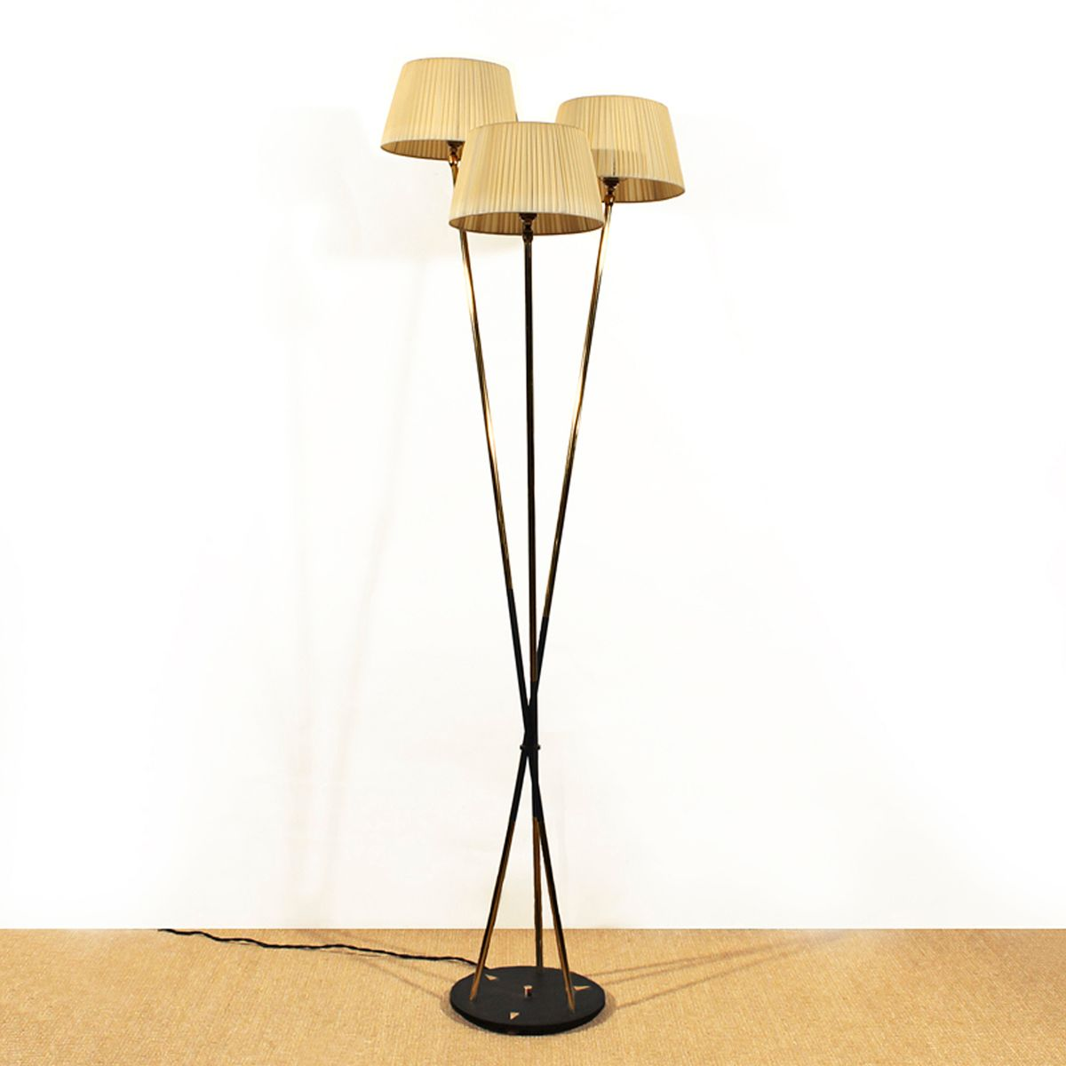 French three lamp floor light 1950s for sale at pamono for 1950 floor lamp