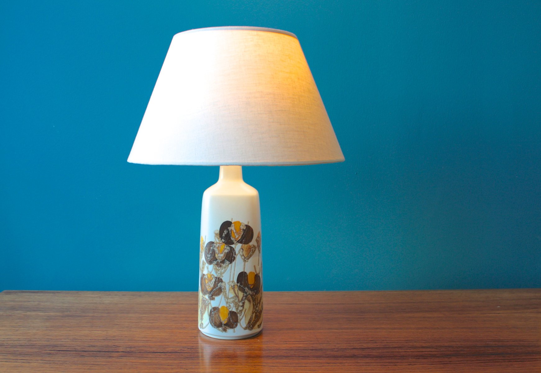 Royal blue table lamp - Danish Faience Table Lamp By Ellen Malmer From Royal Copenhagen 1960s