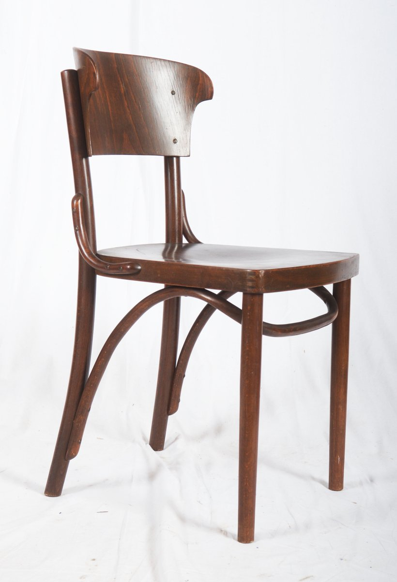 Nice Bentwood Chairs From Thonet, 1930s, Set Of 4 For Sale At Pamono