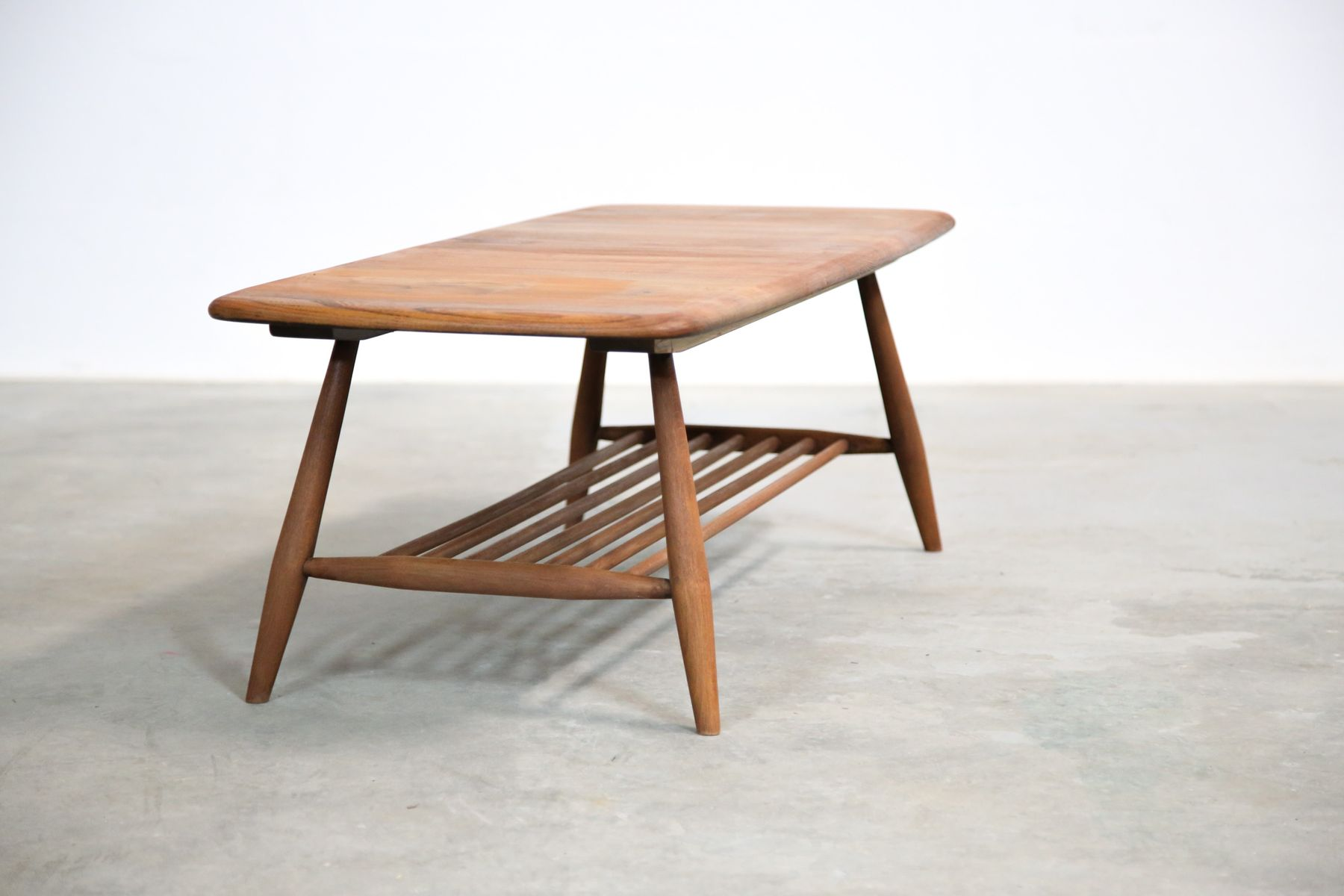 Oak Beech Coffee Table By Lucian Ercolani For Ercol 1960s For Sale At Pamono