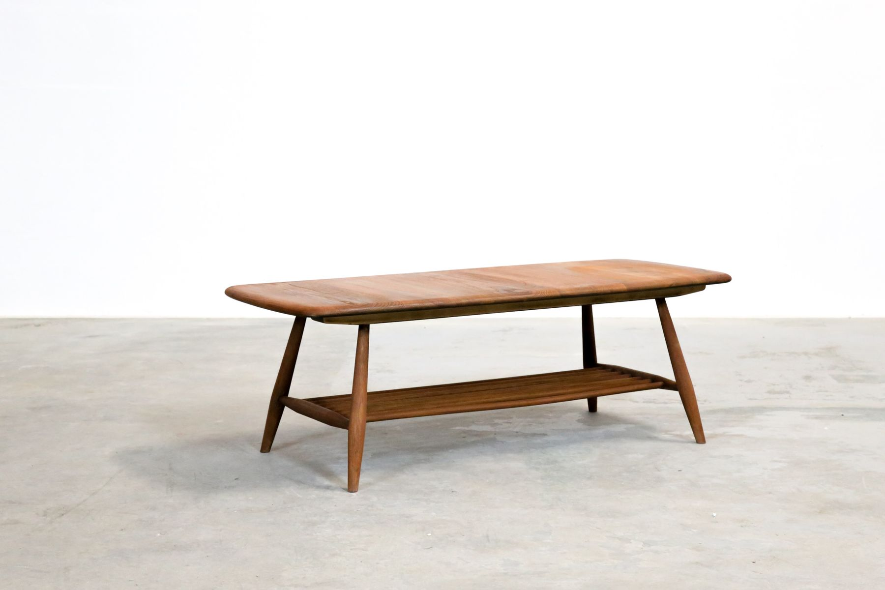 Oak beech coffee table by lucian ercolani for ercol - Table basse gigogne vintage ...