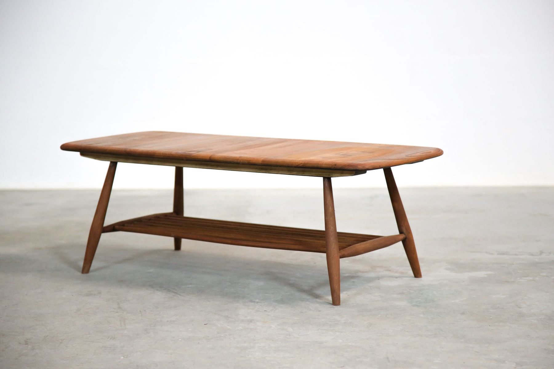 Oak beech coffee table by lucian ercolani for ercol for Beech coffee table