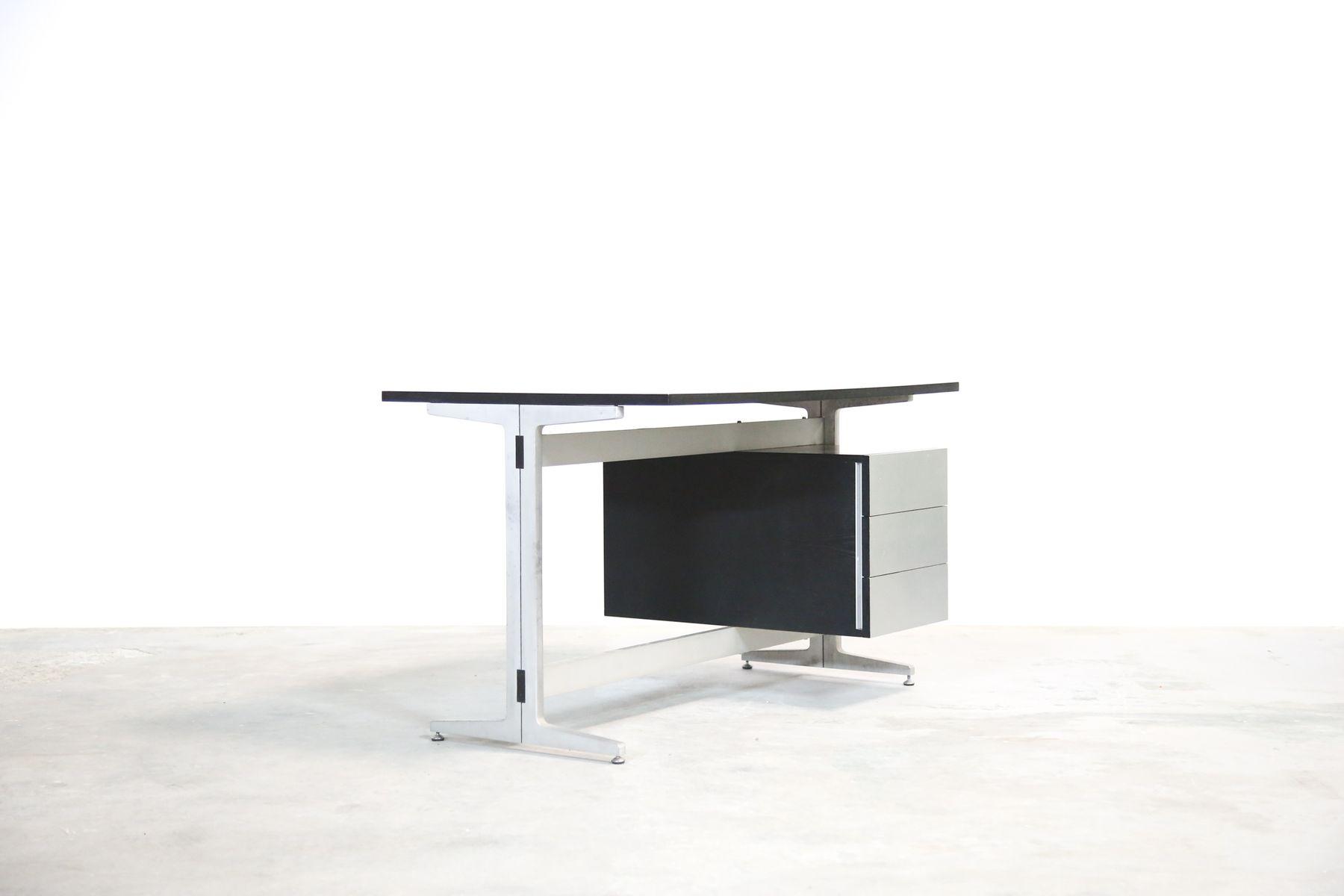 Franz sischer schreibtisch aus schwarzem buchenholz von for Schreibtisch aus buchenholz