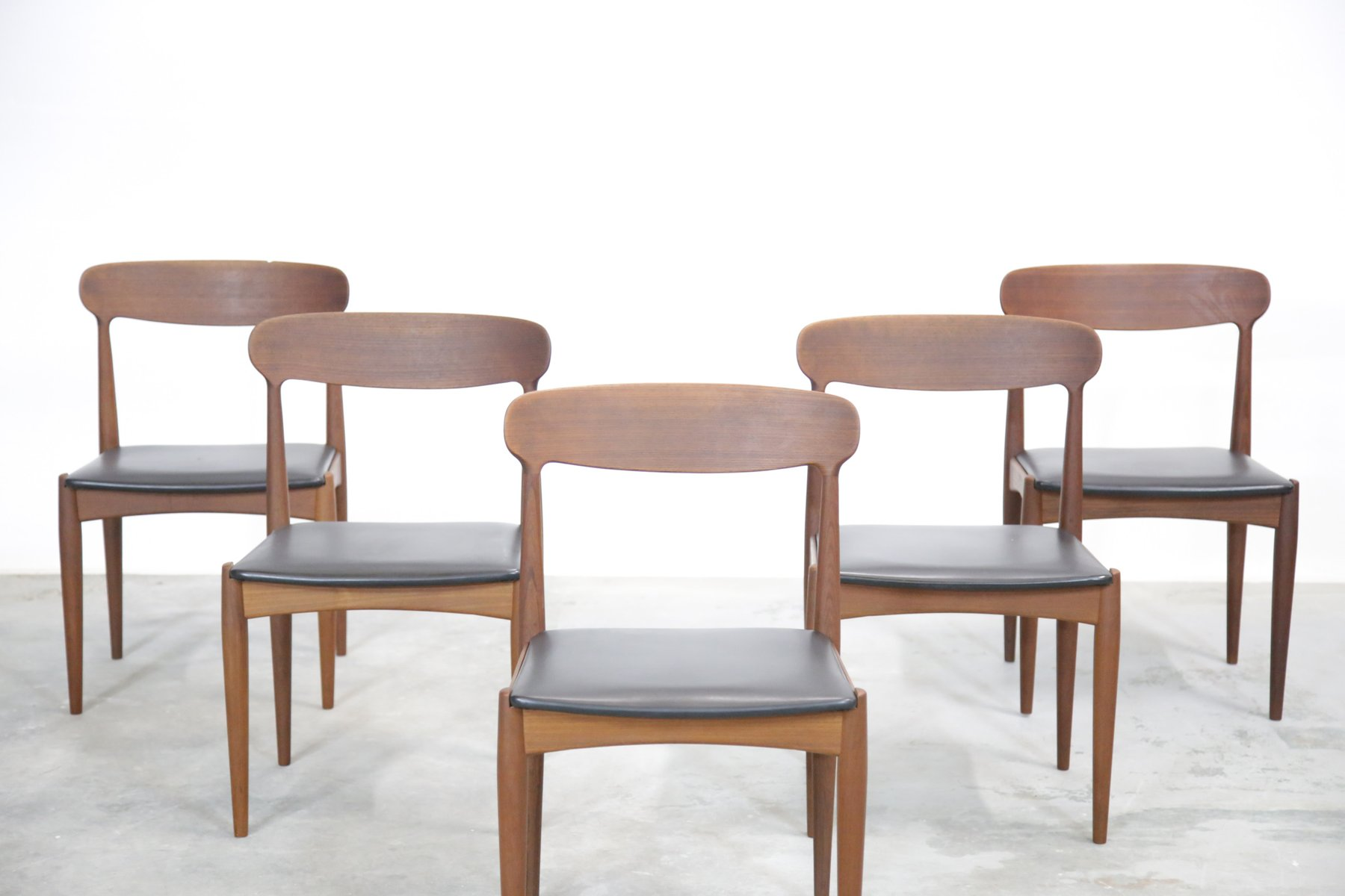 Danish Dining Chairs by Johannes Andersen for Uldum 1960s Set of