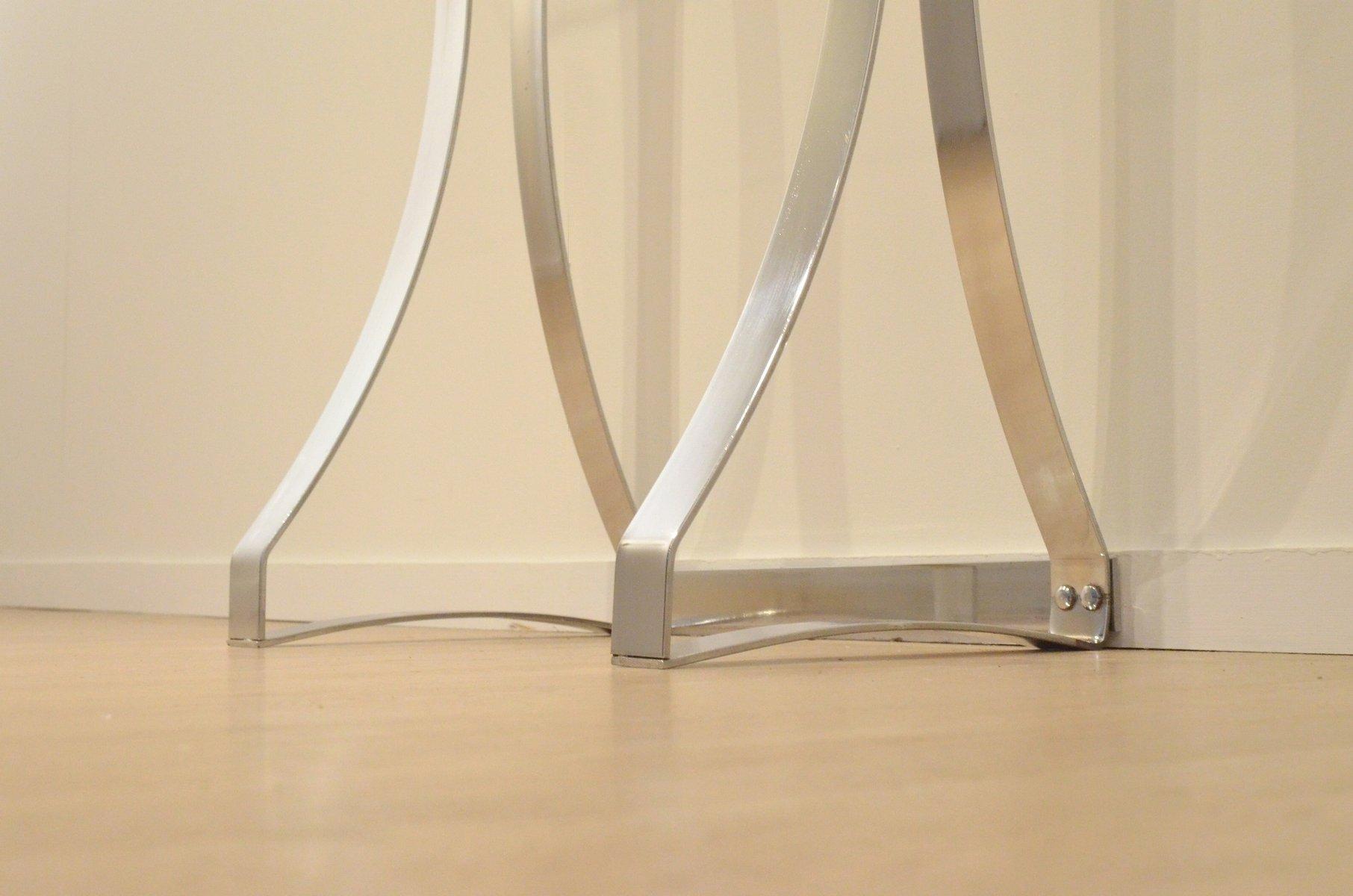 minimalistischer konsolentisch aus chrom glas 1970er. Black Bedroom Furniture Sets. Home Design Ideas