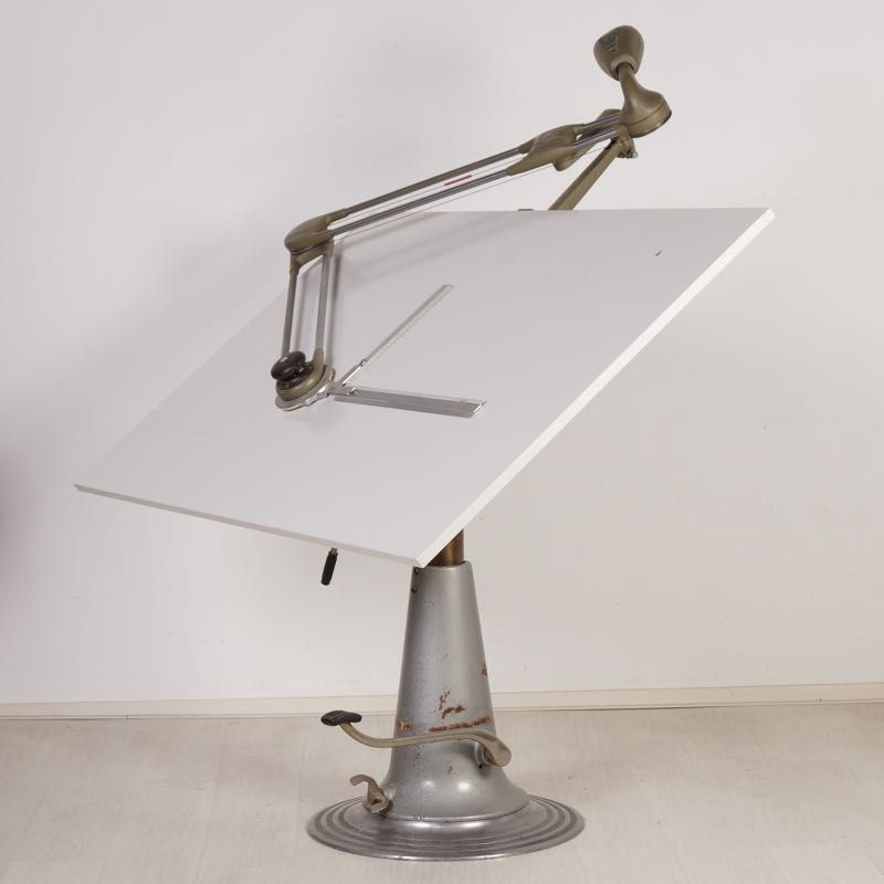 Industrial Drafting Table From Nike Eskilstuna 1950s For