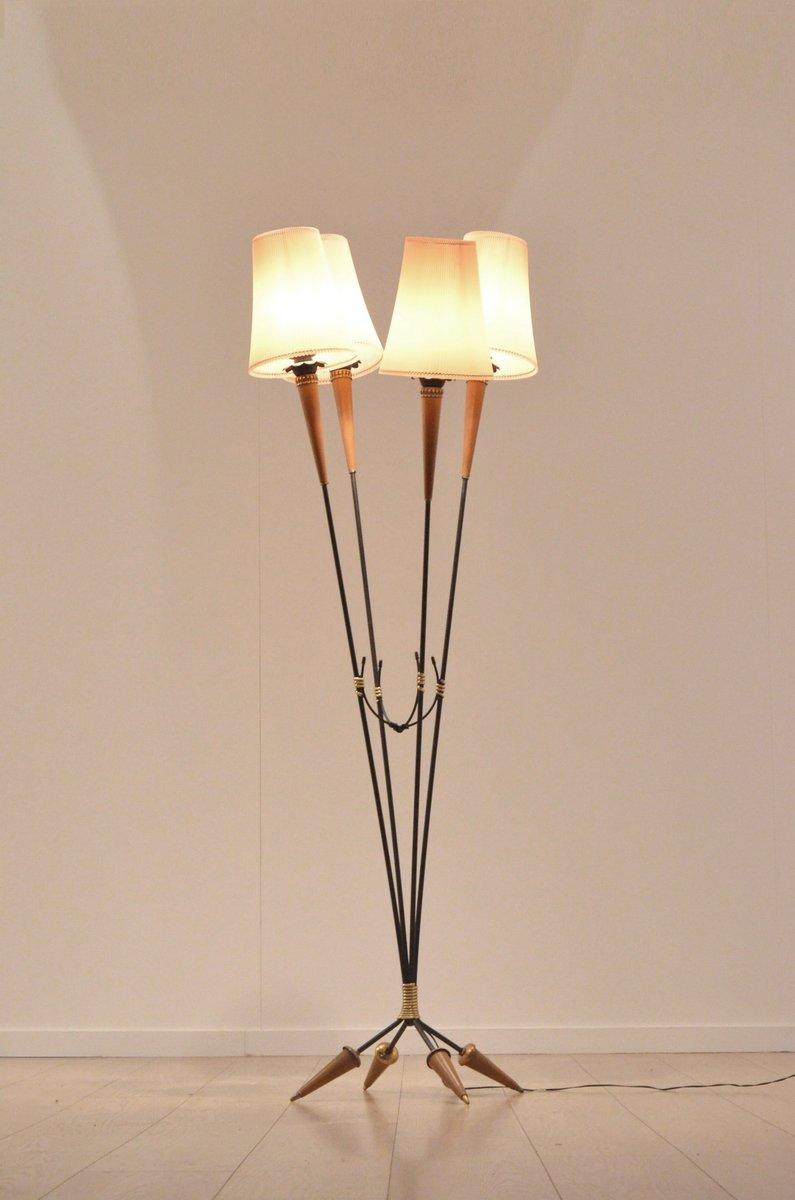 Mid century organic multiple stem floor lamp for sale at for Floor lamp glass stem