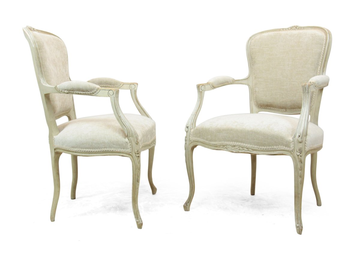 Antique Louis XV Style Chairs, 1900s, Set Of 2 For Sale At Pamono