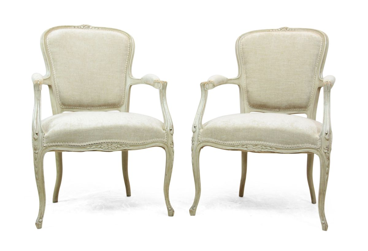 Antique louis xv style chairs 1900s set of 2 for sale at for Salle de bain louis xv