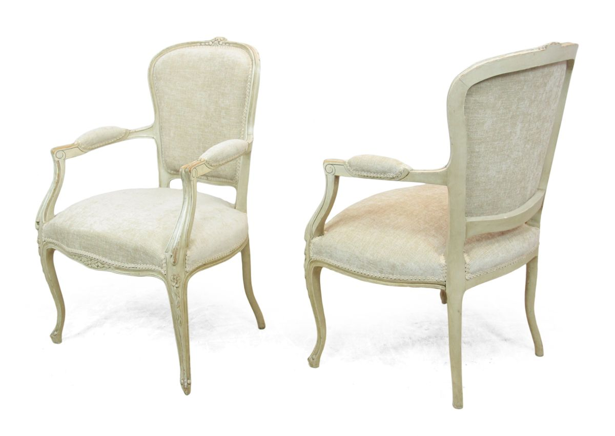 antique louis xv style chairs 1900s set of 2 for sale at