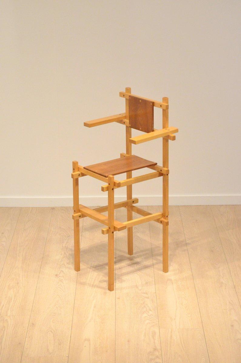 hand crafted teak birch children 39 s high chair by gerrit. Black Bedroom Furniture Sets. Home Design Ideas