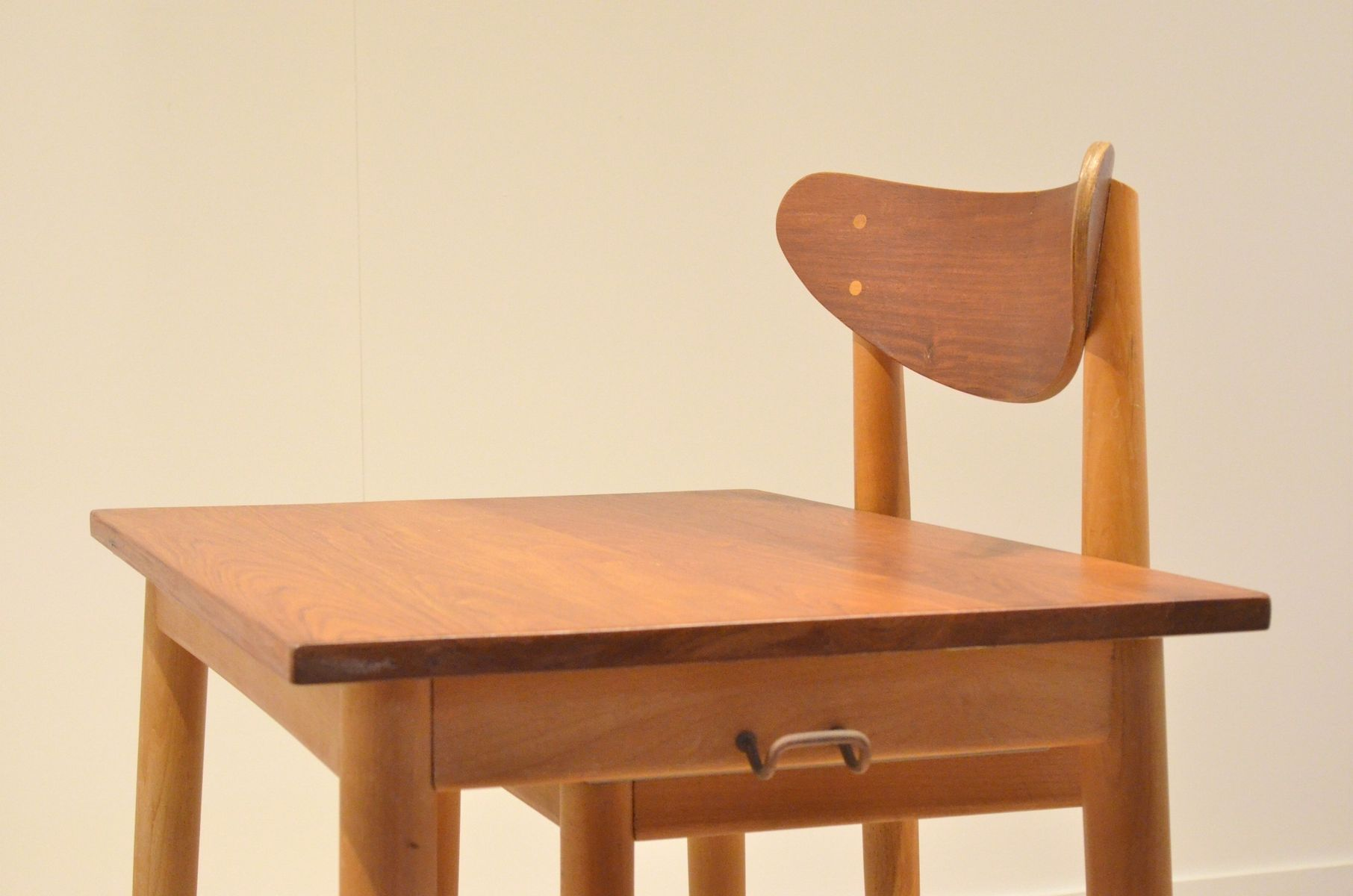 Bicolored School Desk and Chair by S E Fryklund for Hagafors