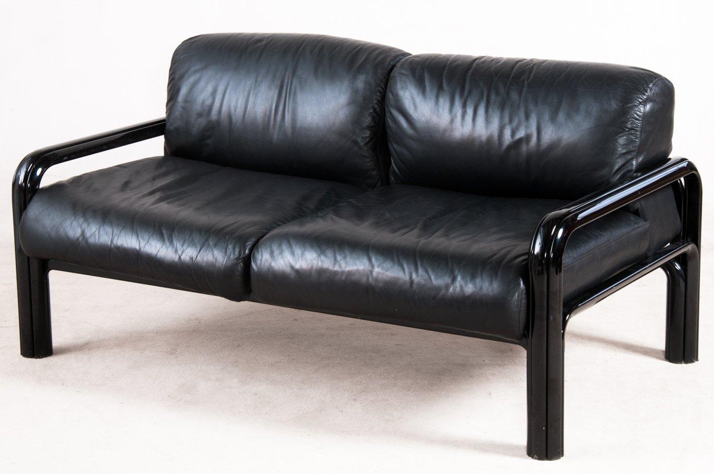 Canap en acier et cuir par gae aulenti pour knoll for Fabricant canape cuir france