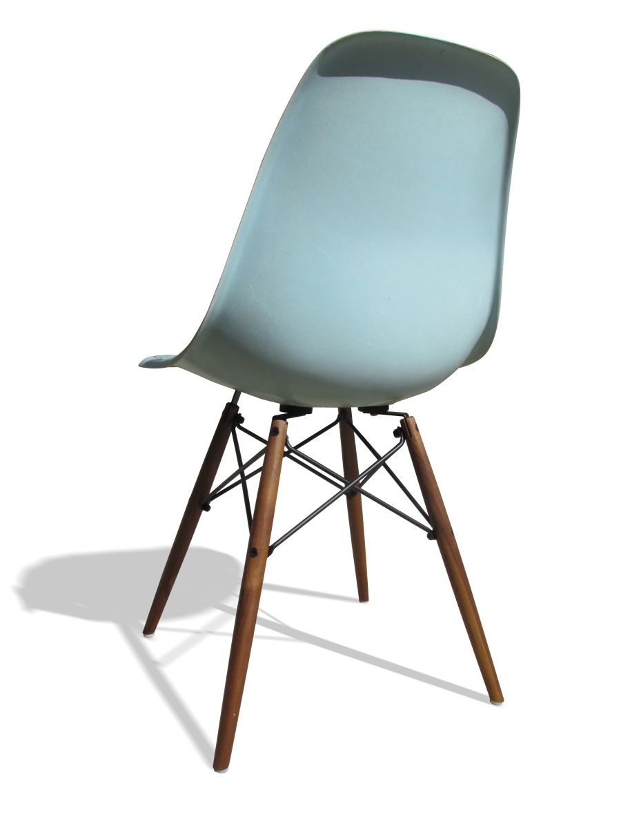robin 39 s egg blue dsw chair by charles and ray eames for herman miller for sale at pamono. Black Bedroom Furniture Sets. Home Design Ideas