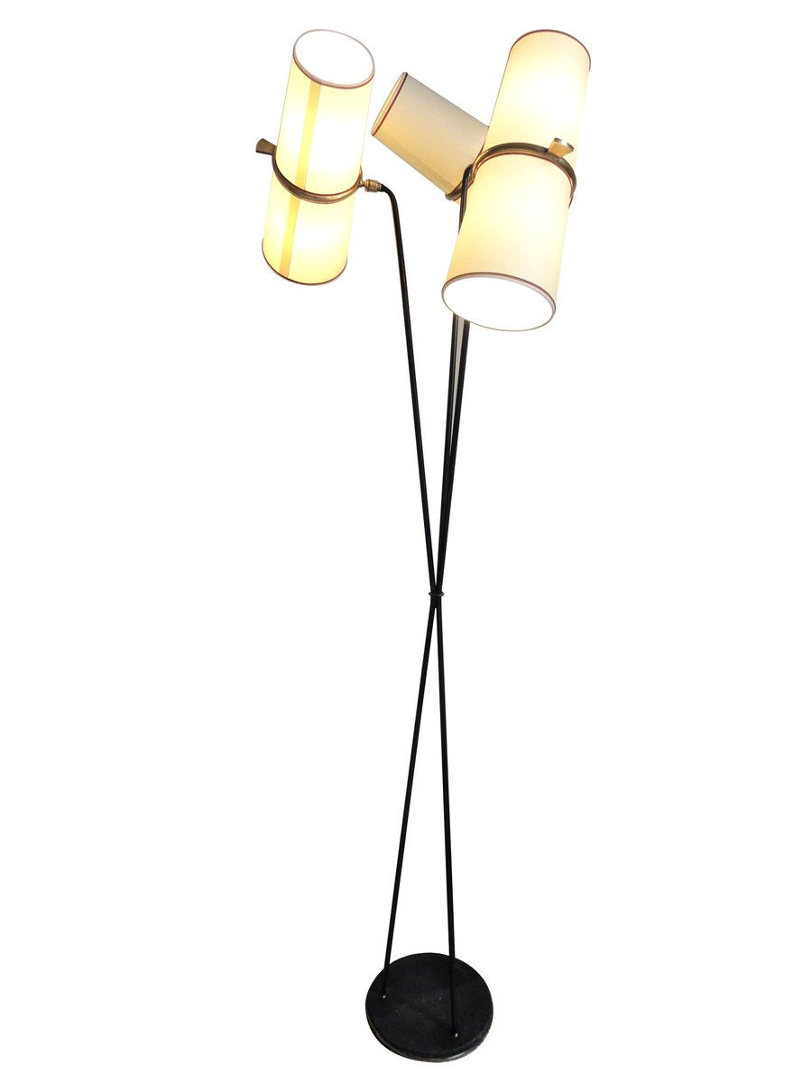 three light floor lamp from lunel 1950s for sale at pamono. Black Bedroom Furniture Sets. Home Design Ideas