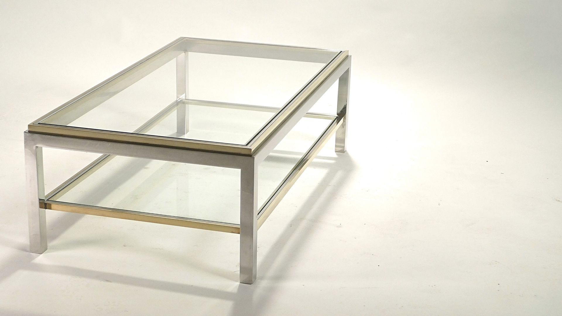 Vintage Flaminia Coffee Table By Willy Rizzo 1970s For Sale At Pamono