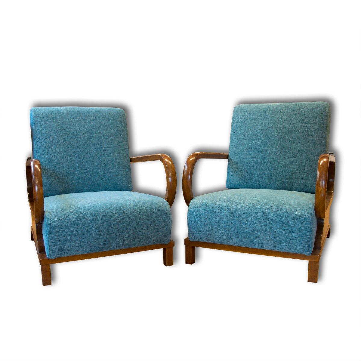 fauteuils ajustables art d co 1930s set de 2 en vente sur pamono. Black Bedroom Furniture Sets. Home Design Ideas