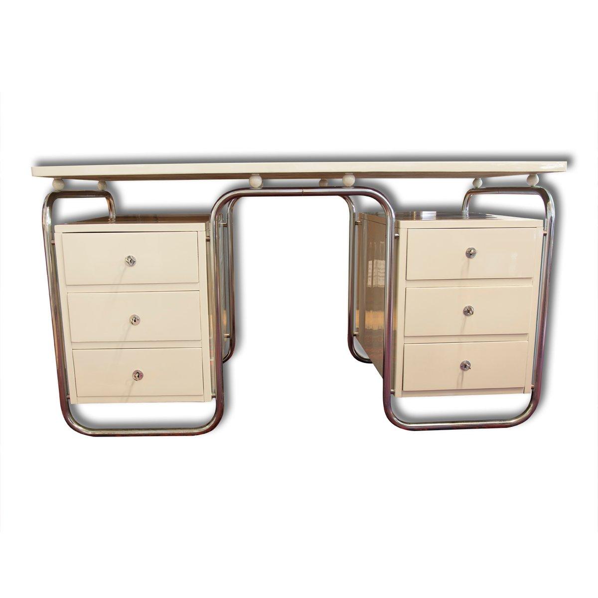 tschechischer bauhaus buchenholz schreibtisch 1935 bei. Black Bedroom Furniture Sets. Home Design Ideas