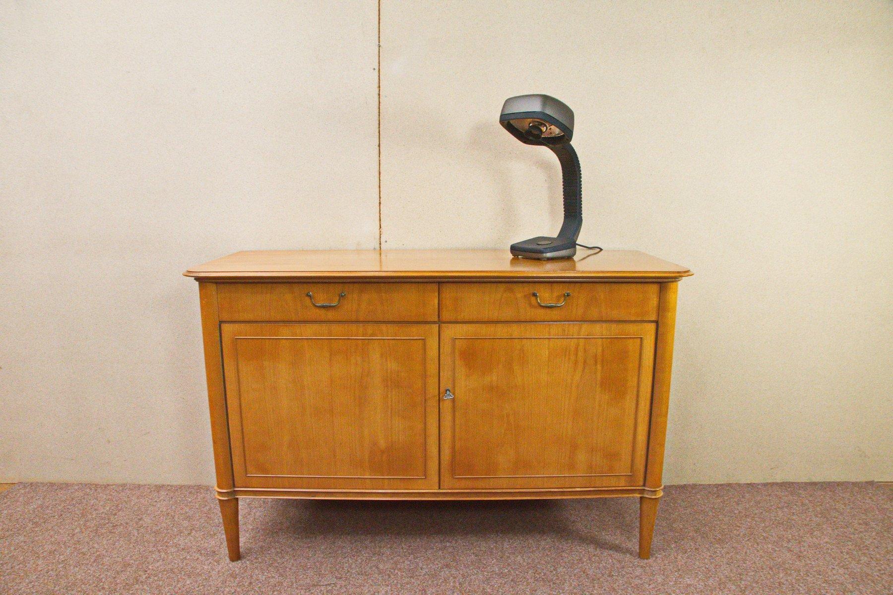 kleines kirschholz sideboard mit zwei schubladen 1950er bei pamono kaufen. Black Bedroom Furniture Sets. Home Design Ideas