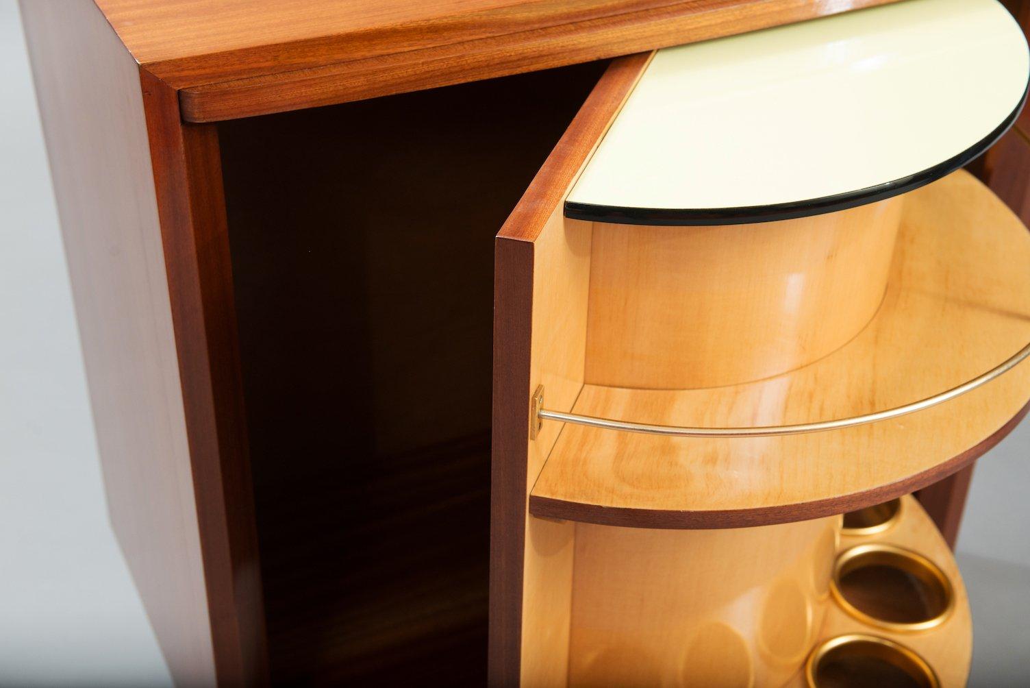 mid century modern revolving trolley bar for sale at pamono. Black Bedroom Furniture Sets. Home Design Ideas