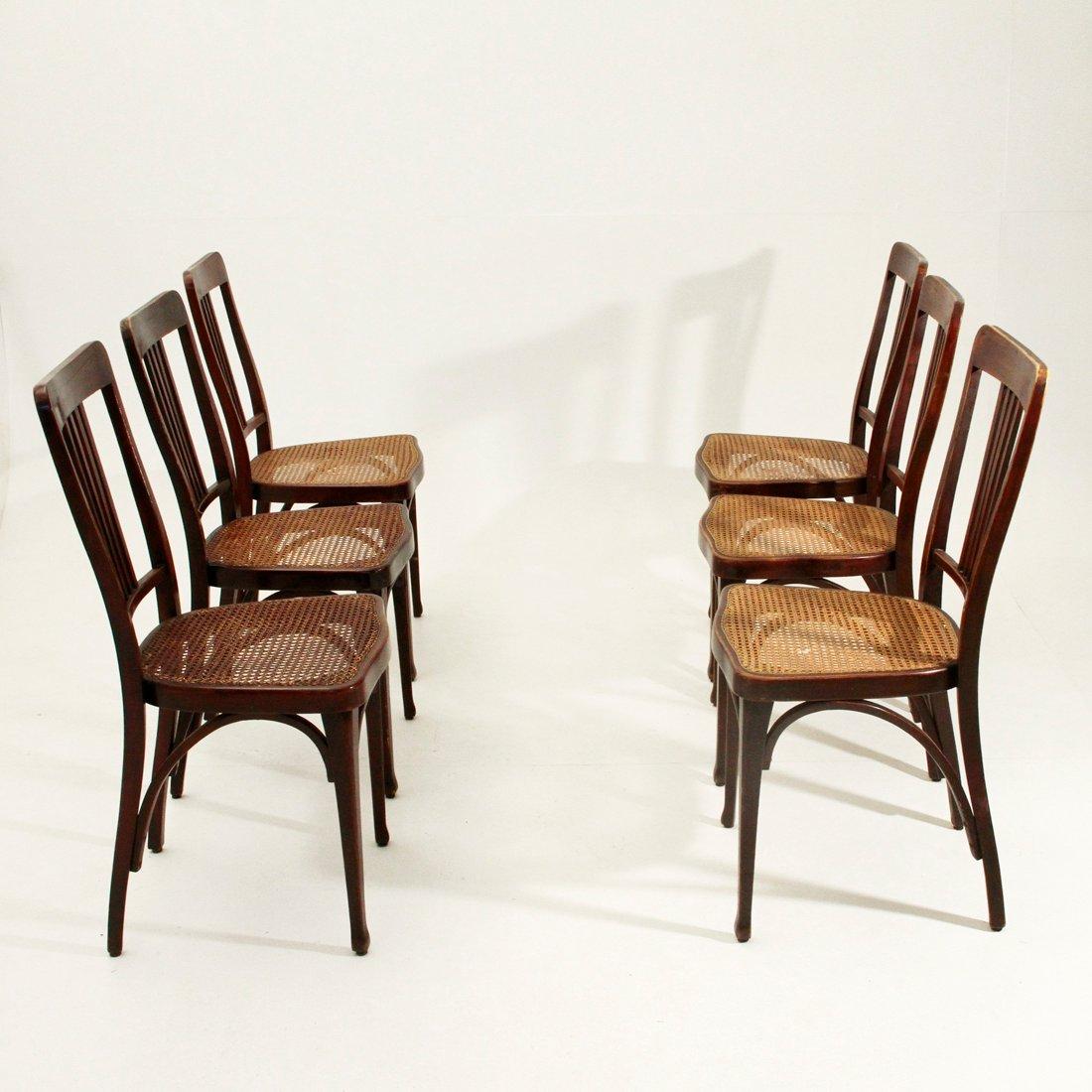 jugendstil mod 675 st hle von thonet 1900er 6er set bei. Black Bedroom Furniture Sets. Home Design Ideas